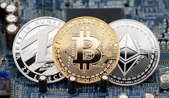 Photo de plusieurs cryptomonnaies